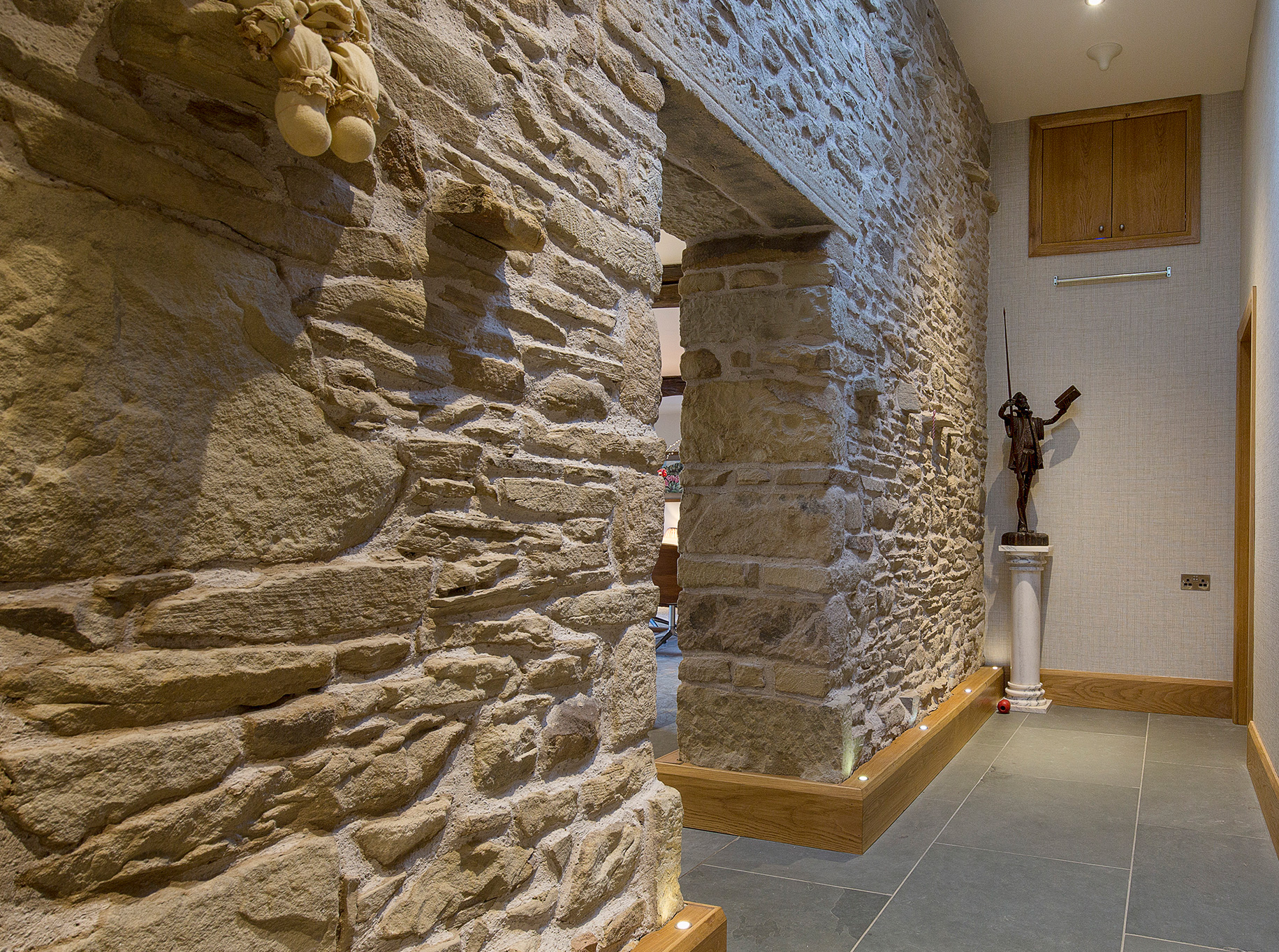 Higher Blaithwaite Barn - Hallway / stone work