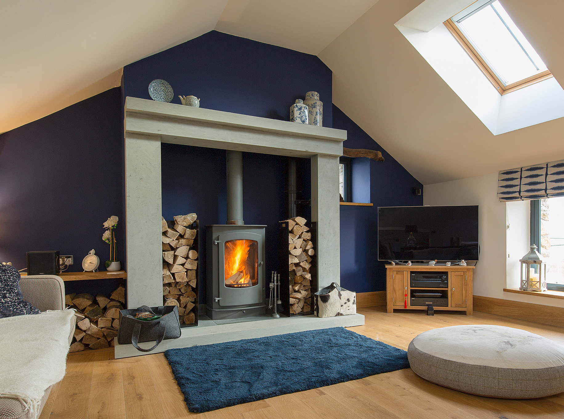 Higher Blaithwaite Barn -Lounge fire surround