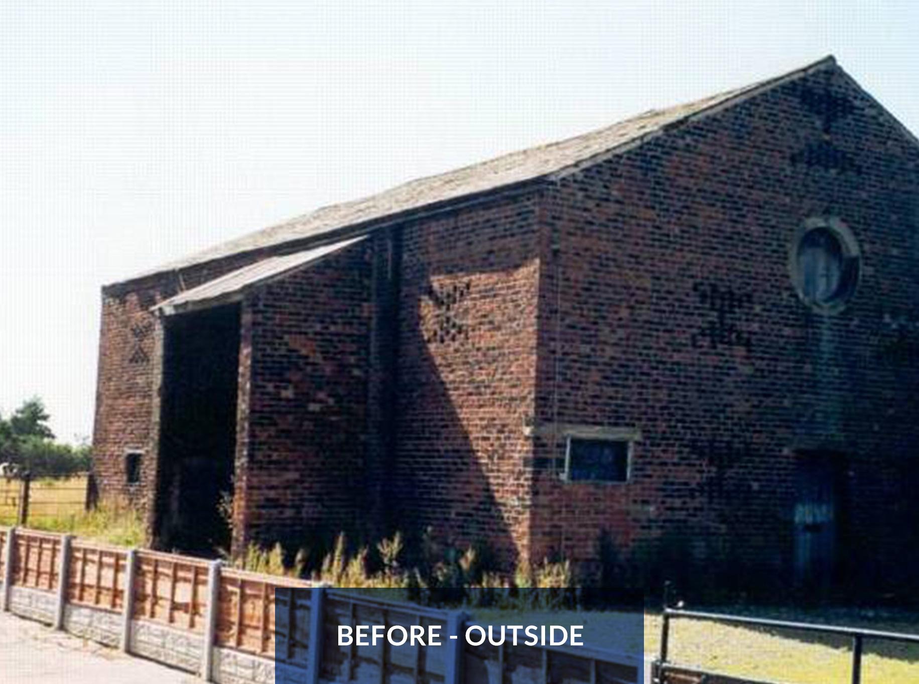 Leyland Bridge Barn - Before Outside