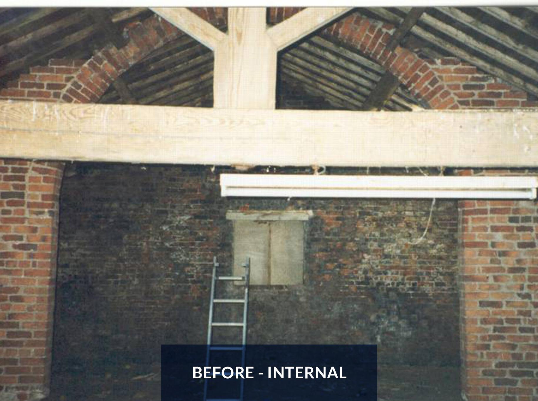 Leyland Bridge Barn - Before Inside